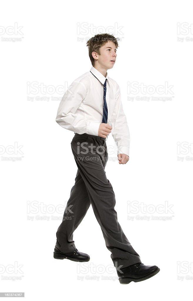 Walking Schoolboy royalty-free stock photo
