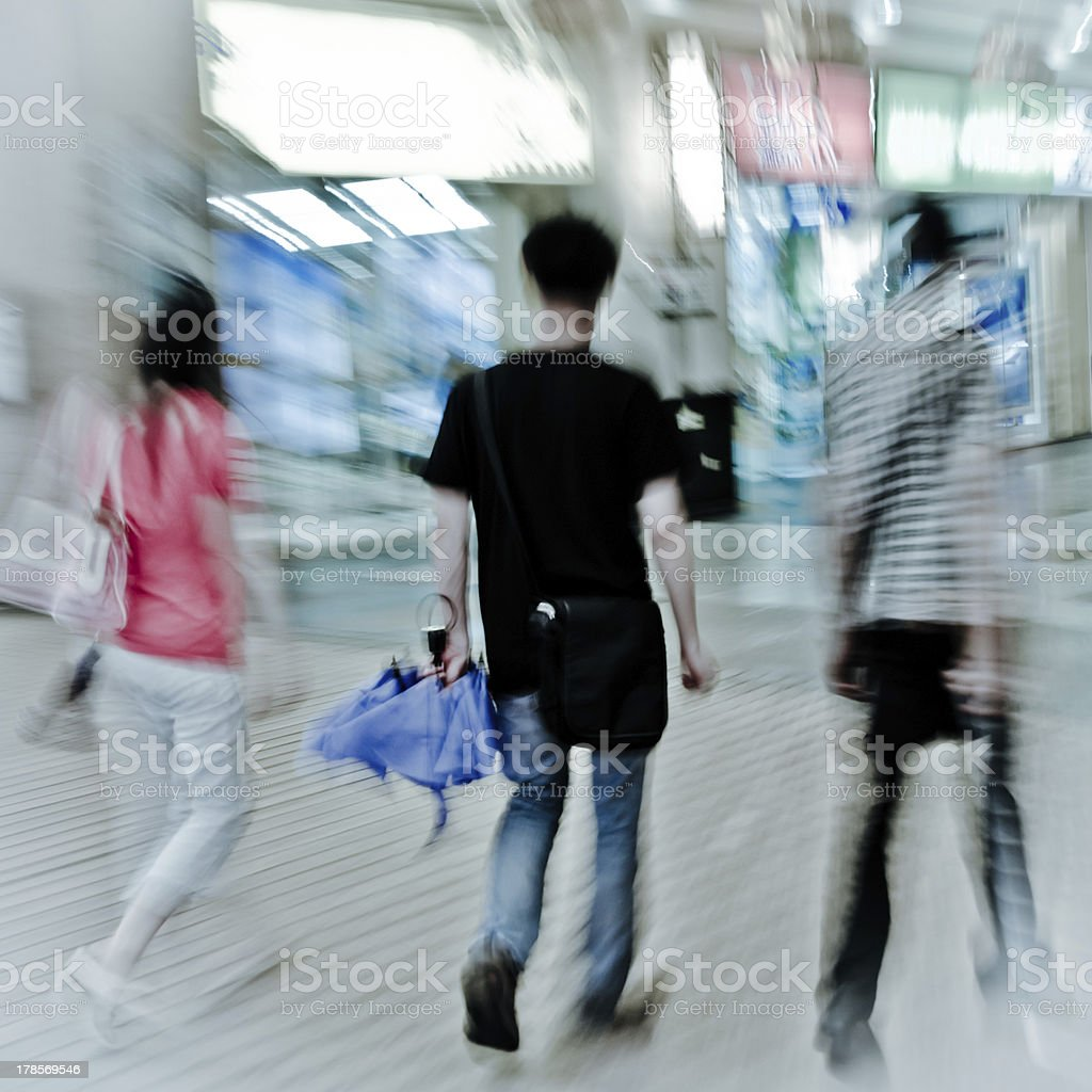 walking shopper people on the street royalty-free stock photo
