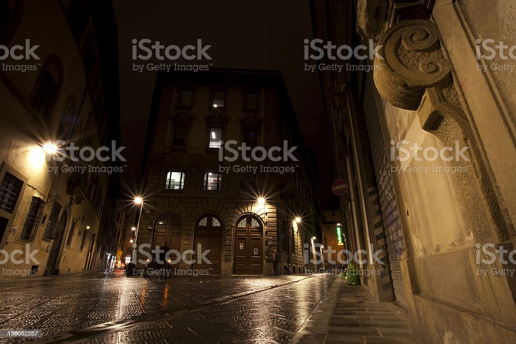 Walking street in Florence, Italy royalty-free stock photo