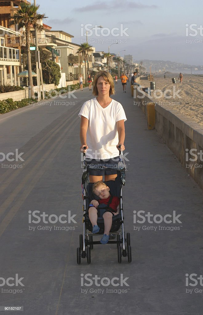 Walking the Baby royalty-free stock photo