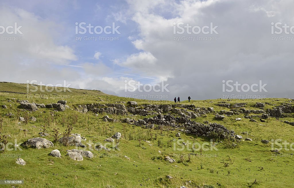 Walking the Dales royalty-free stock photo