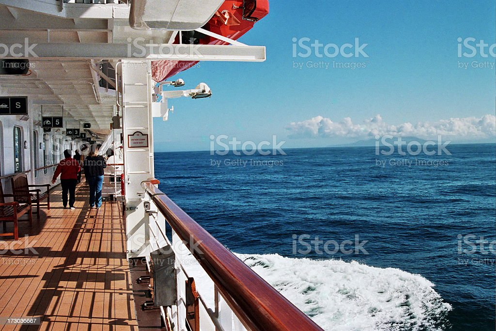 Walking the Deck royalty-free stock photo