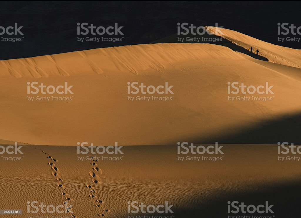 Walking the Dunes royalty-free stock photo