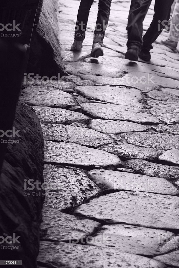 Walking the Roads of History royalty-free stock photo