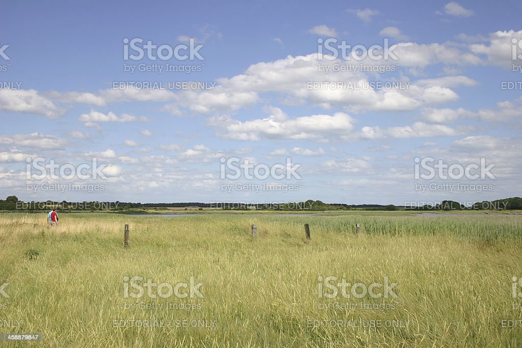 Walking the Suffolk Coast Path royalty-free stock photo