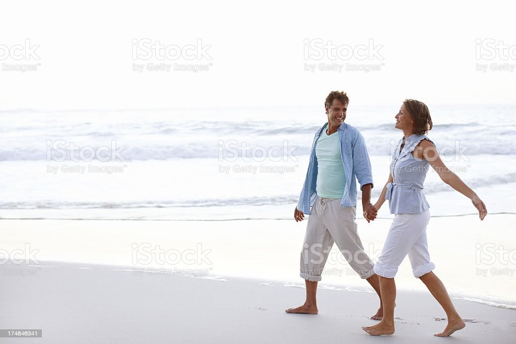 Walking through life together - True Love royalty-free stock photo