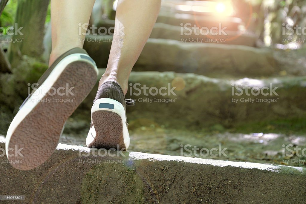 walking to success stock photo
