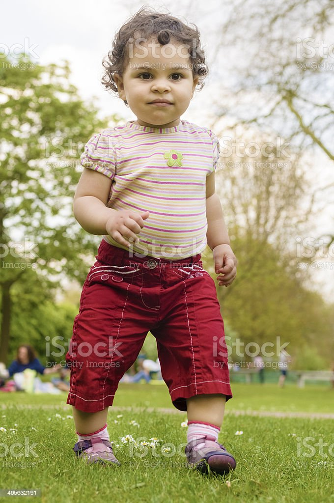Walking Toddler With Self Confidence royalty-free stock photo