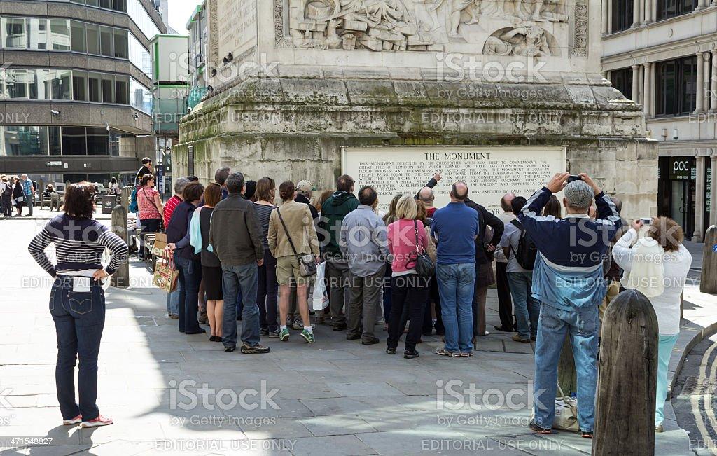 Walking tour group stock photo