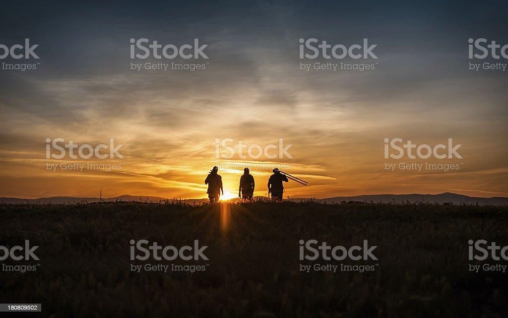 Walking toward Sunset royalty-free stock photo