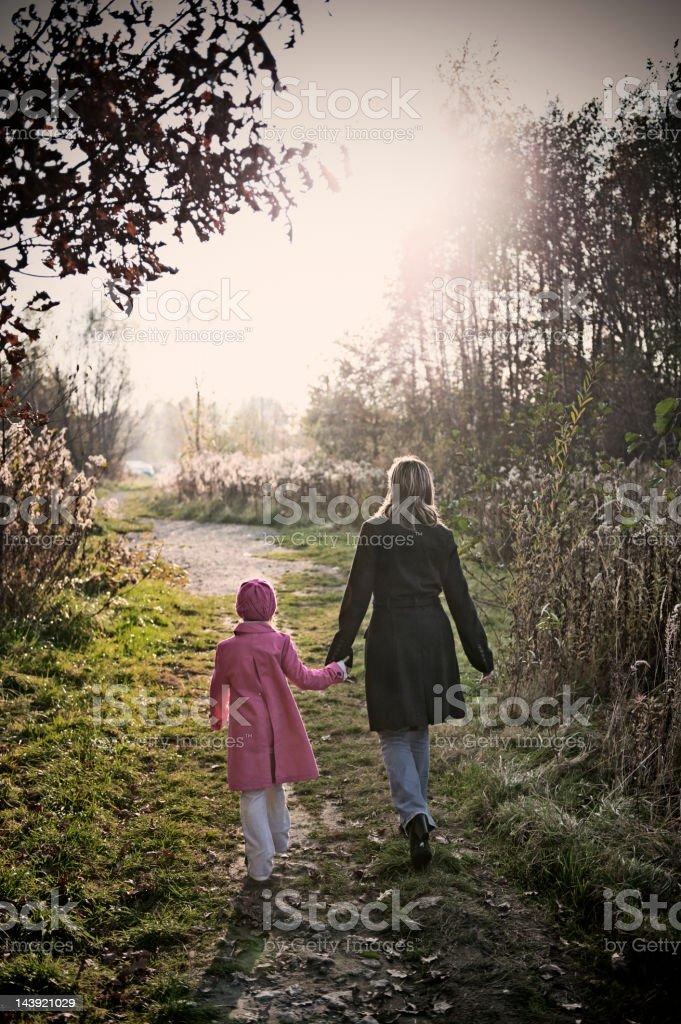 Walking towards the sun royalty-free stock photo