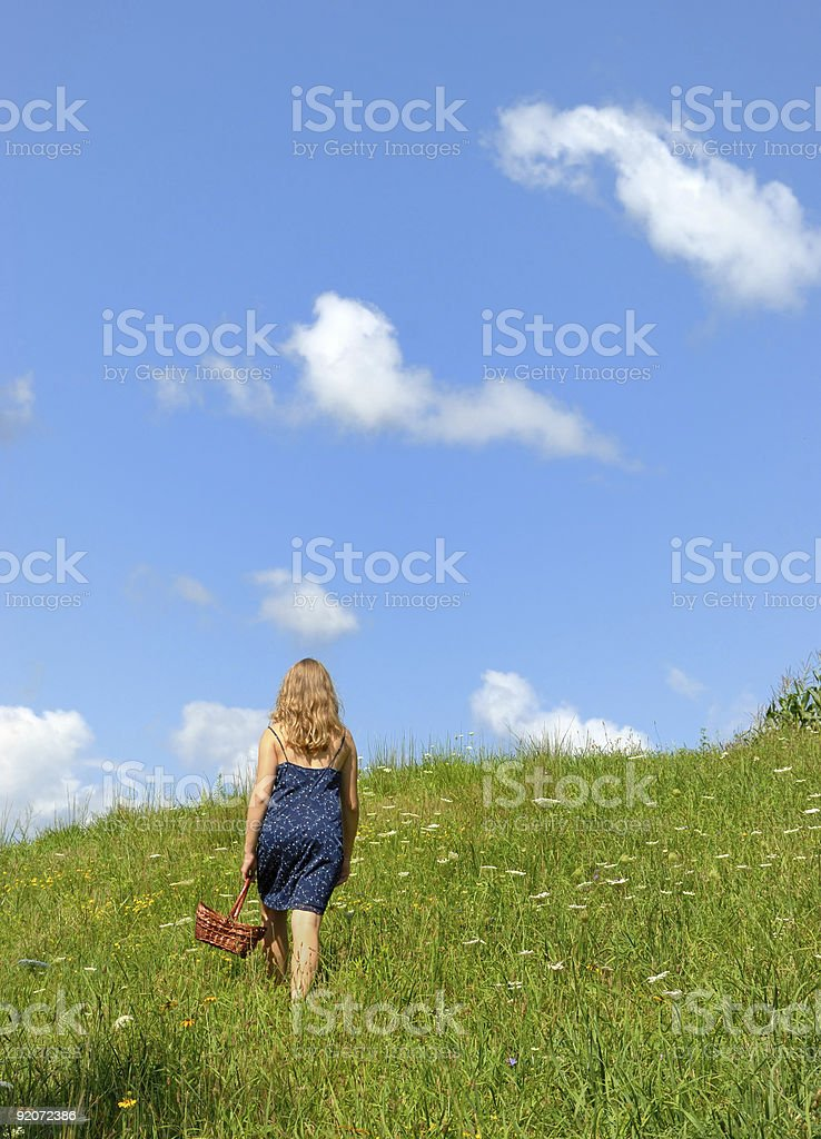 Walking up Hill royalty-free stock photo