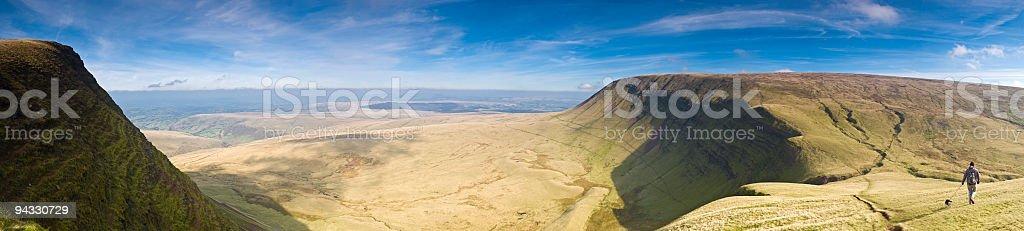 Walking wilderness trail stock photo