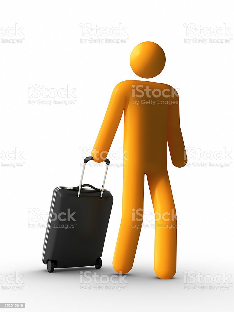 Walking with Luggage royalty-free stock photo