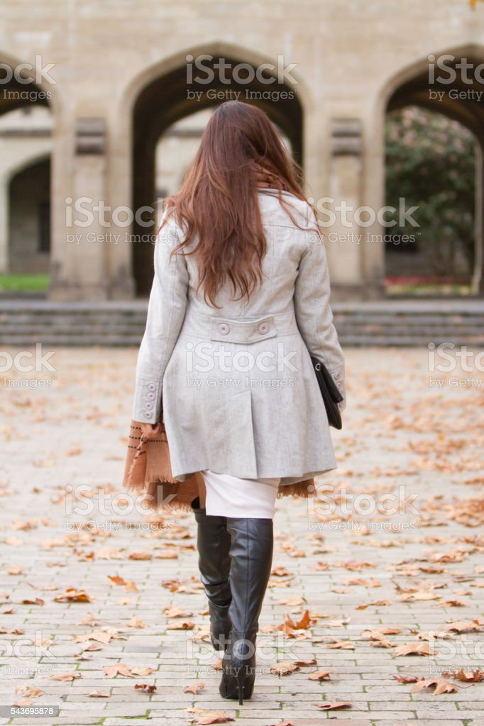 Walking With Purpose stock photo