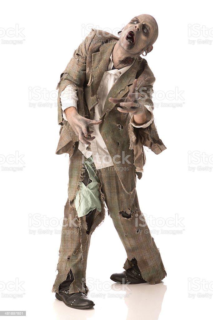 Walking Zombie royalty-free stock photo