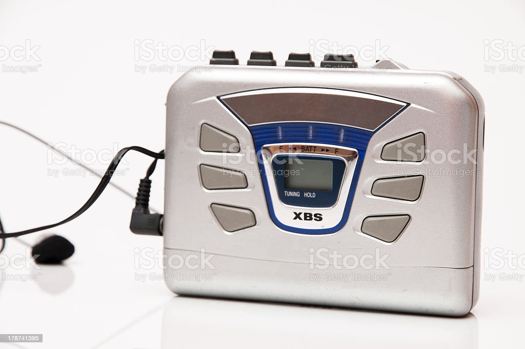 walkman to listen  music royalty-free stock photo