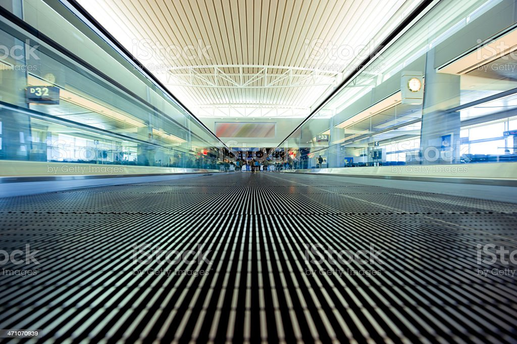 Walkway Airport royalty-free stock photo