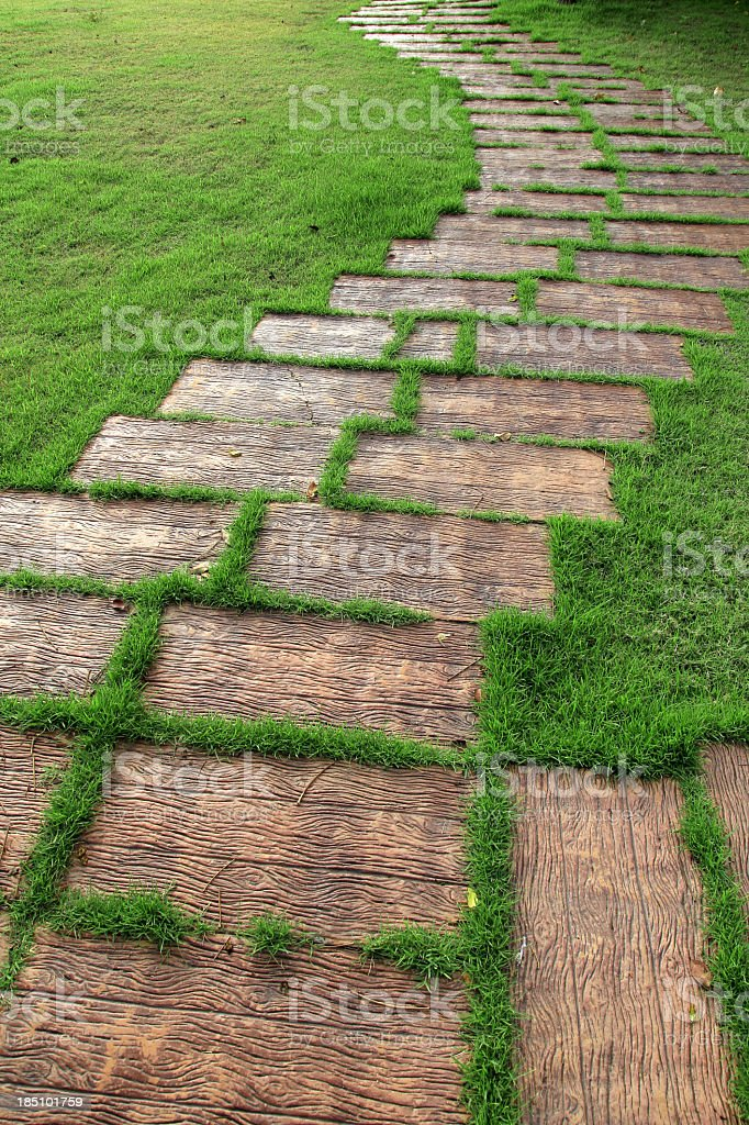 Walkway and grass royalty-free stock photo