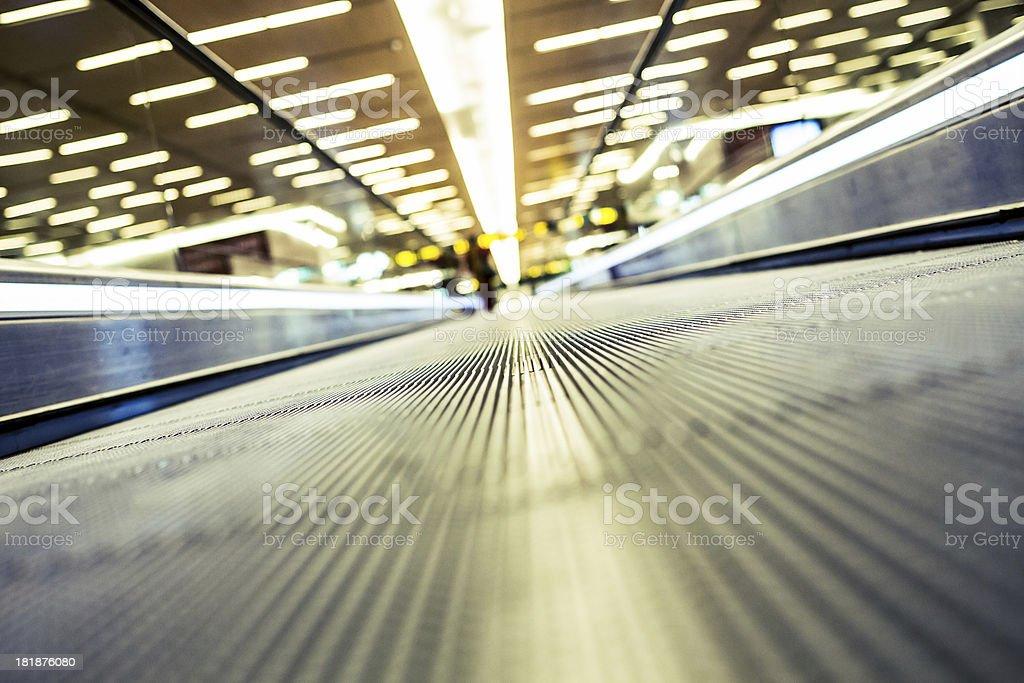 Walkway At The Airport royalty-free stock photo