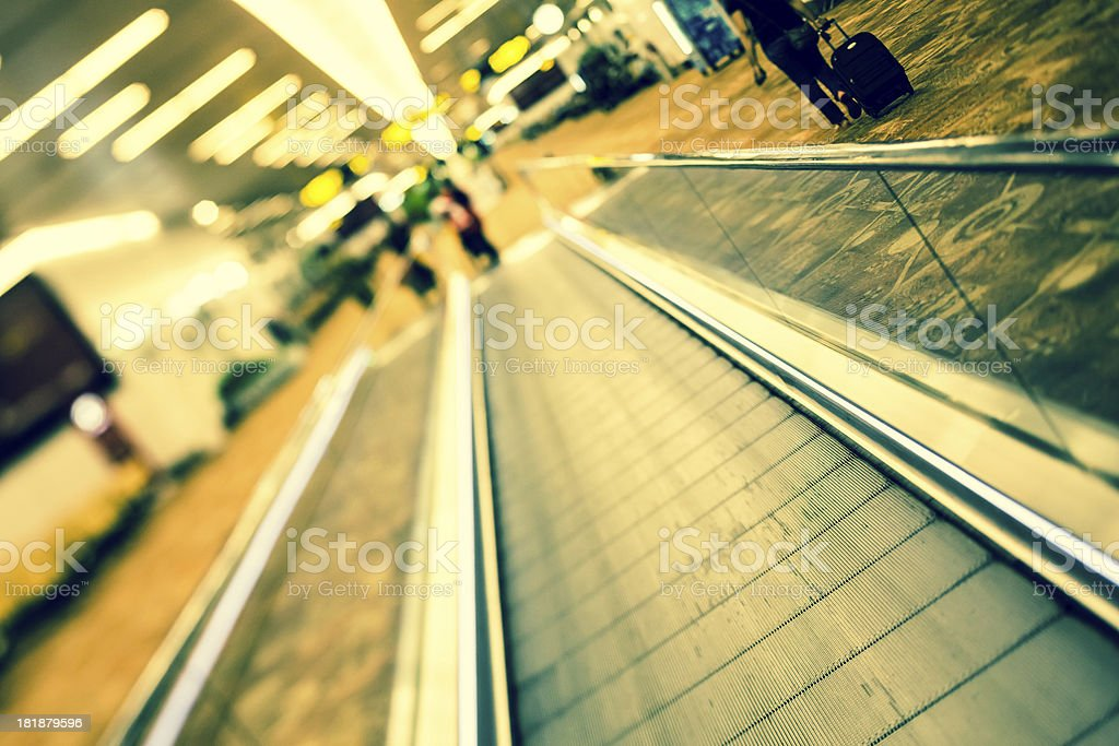 Walkway At The Airport stock photo
