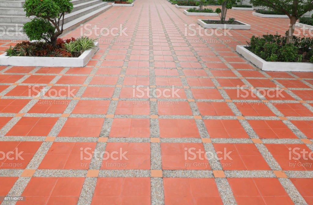 walkway block tiles floor texture sandstone or stone wash  background. stock photo