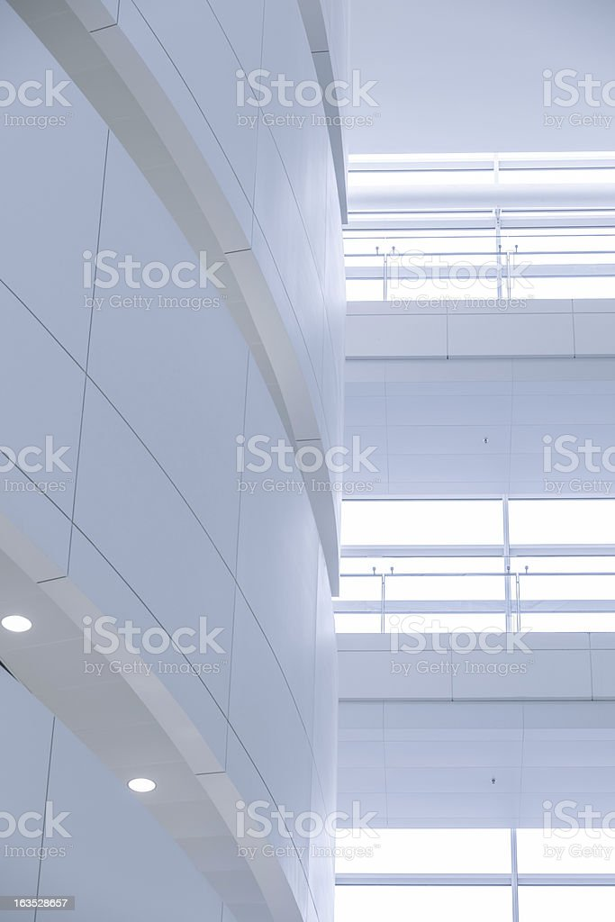 Walkway in modern office building royalty-free stock photo
