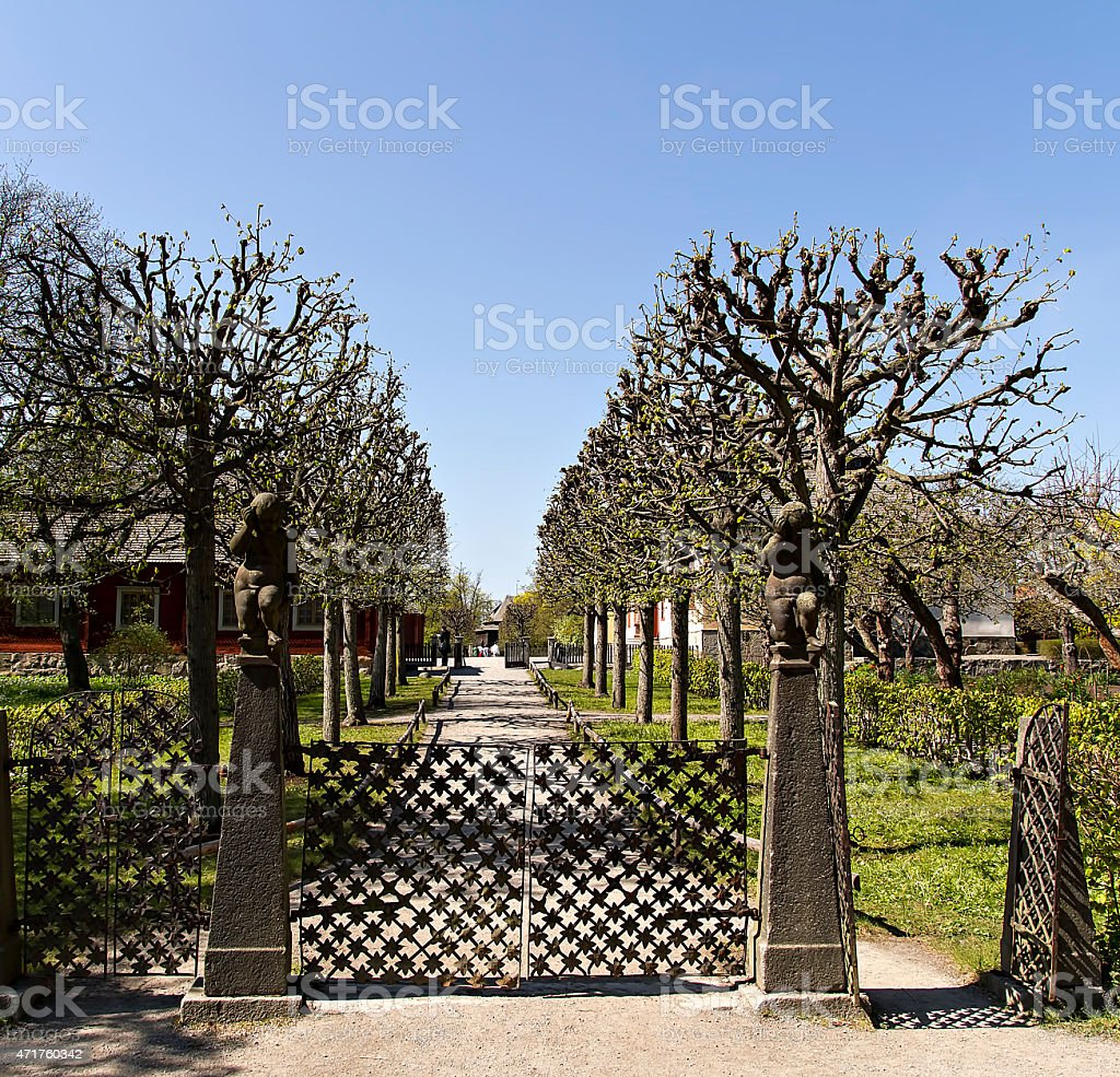 Walkway in peace royalty-free stock photo