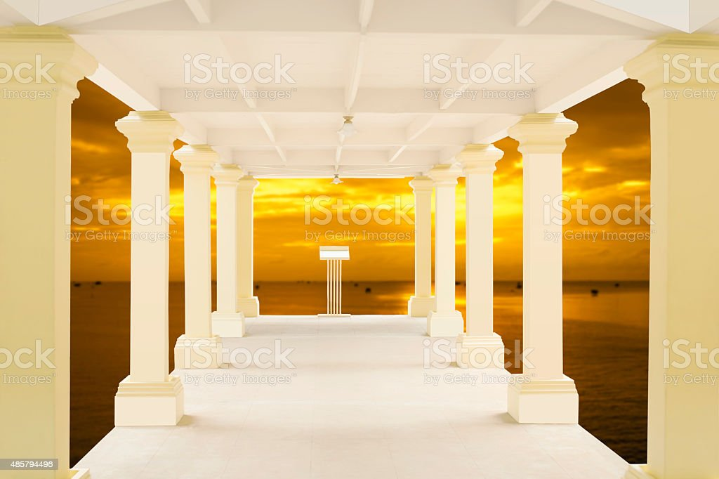 Walkway in tunnel structure background royalty-free stock photo