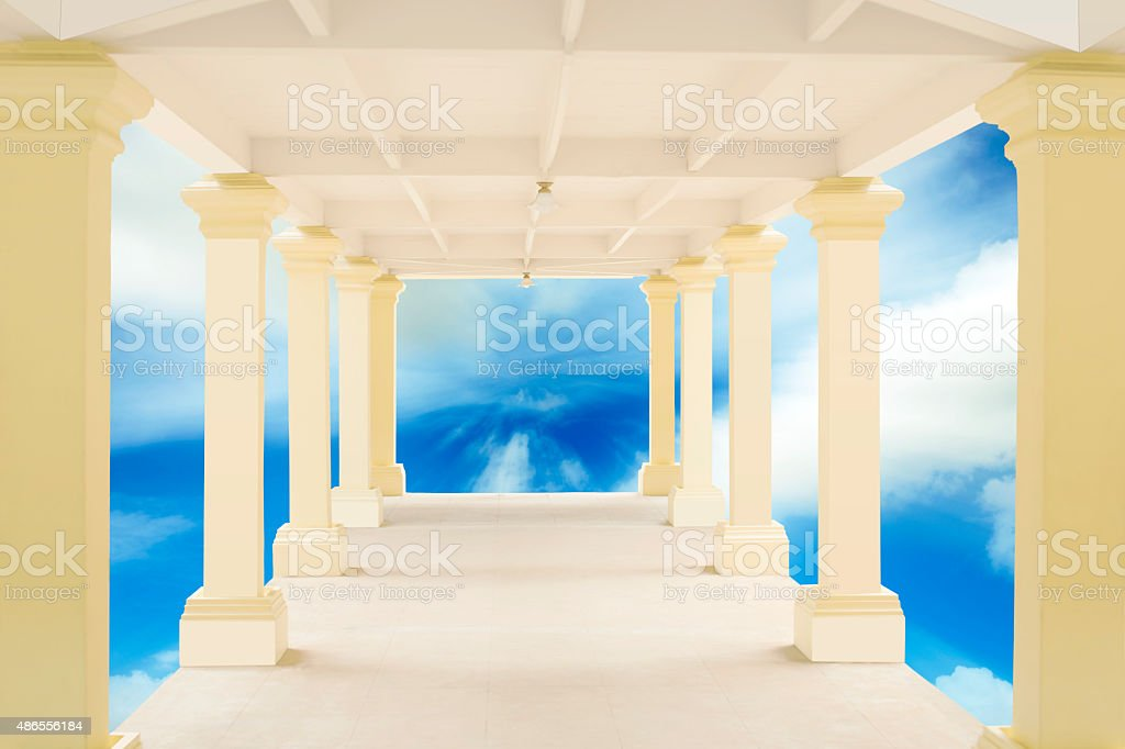 Walkway in tunnel structure royalty-free stock photo