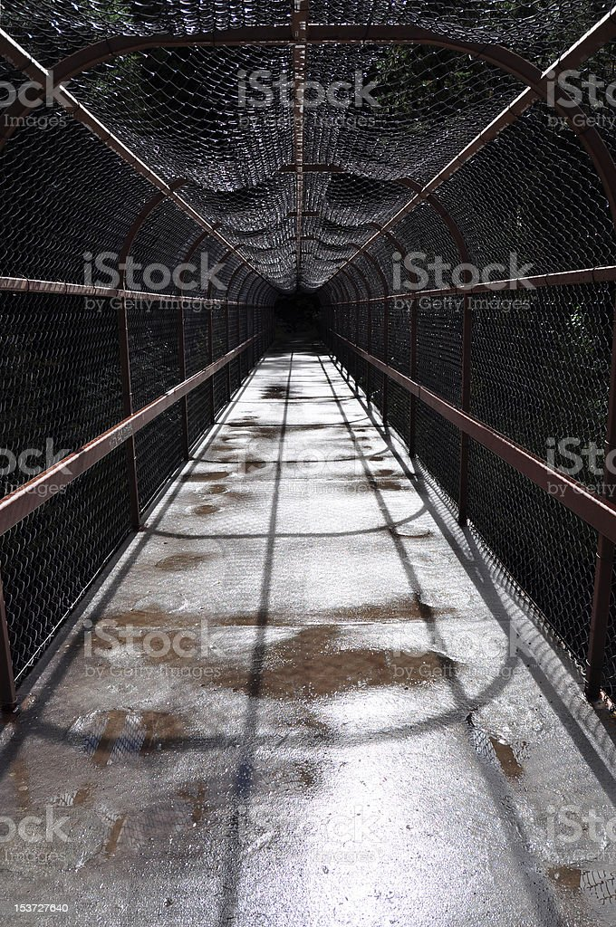 Walkway into the void stock photo