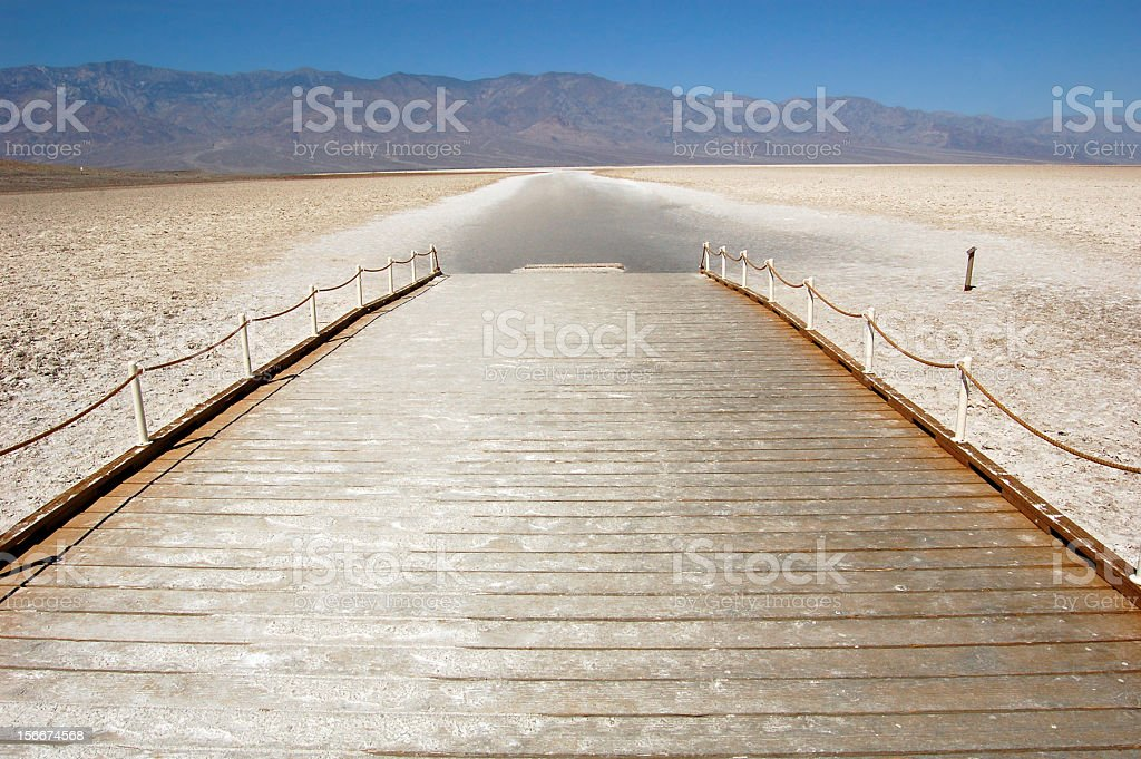 Walkway on the Badwater Basin royalty-free stock photo