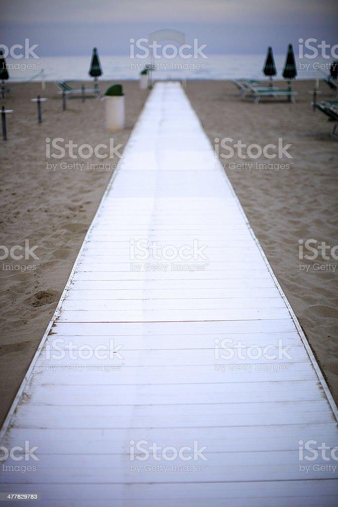 Walkway on the beach royalty-free stock photo