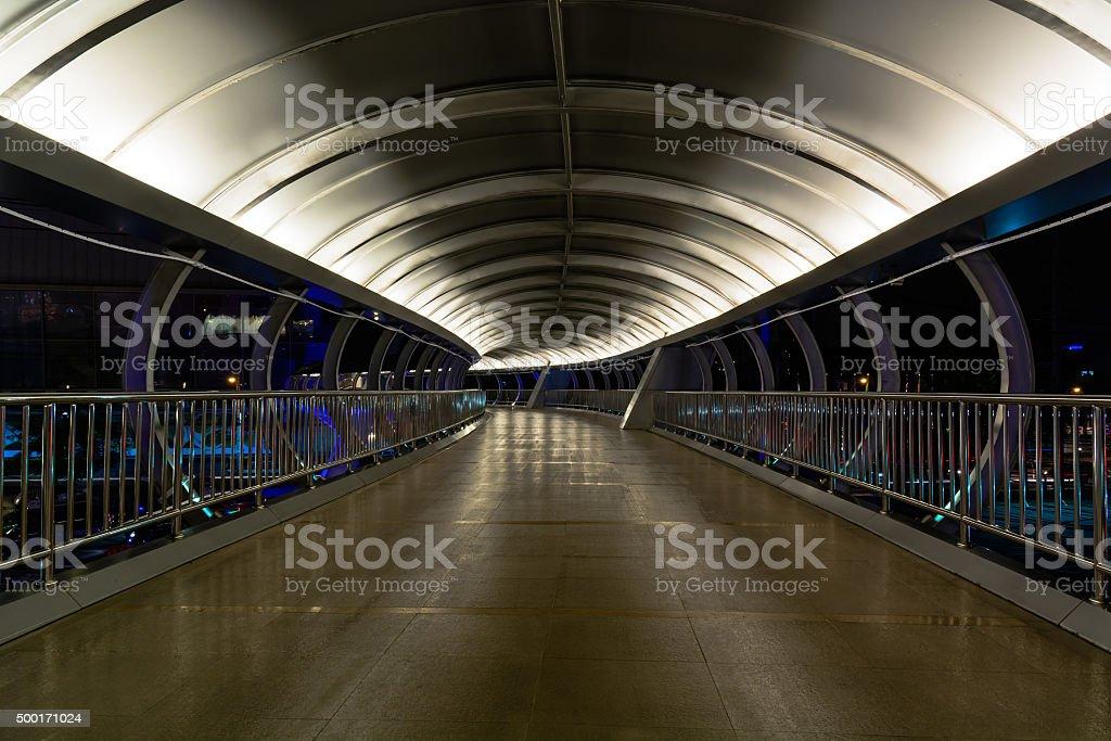 Walkway on the bridge. stock photo