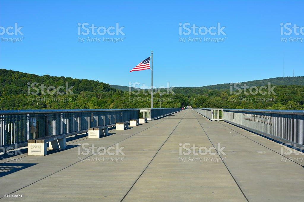 Walkway over the Hudson stock photo