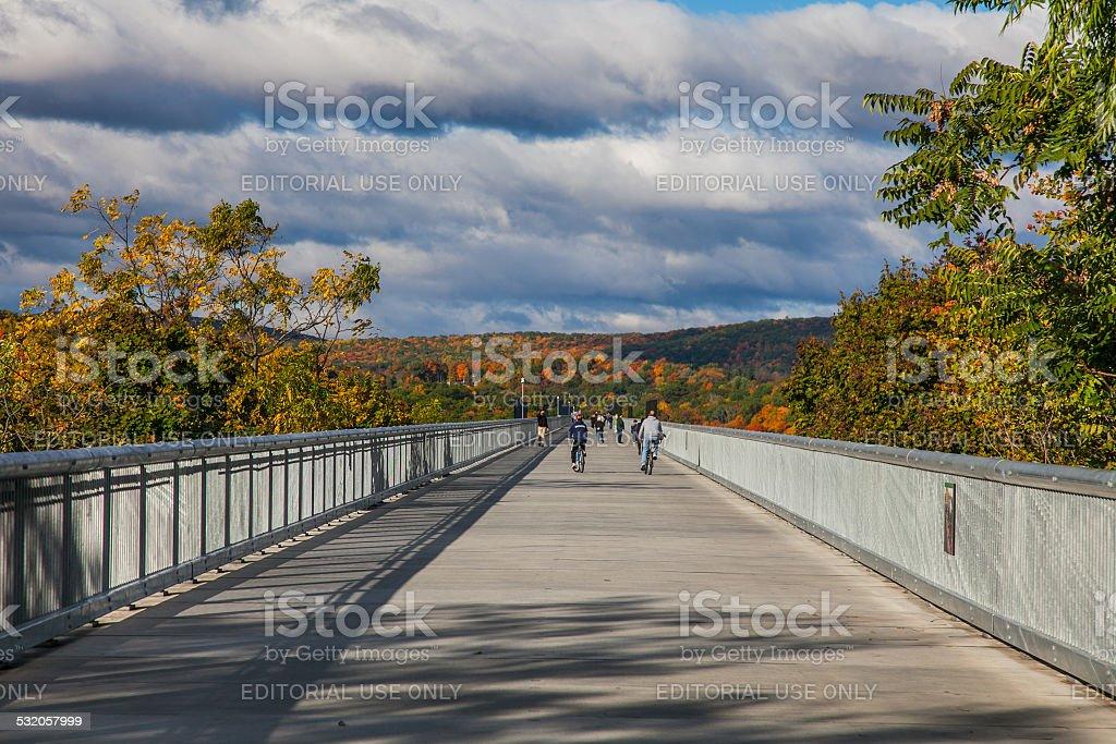 Walkway Over the Hudson - Poughkeepsie, NY stock photo