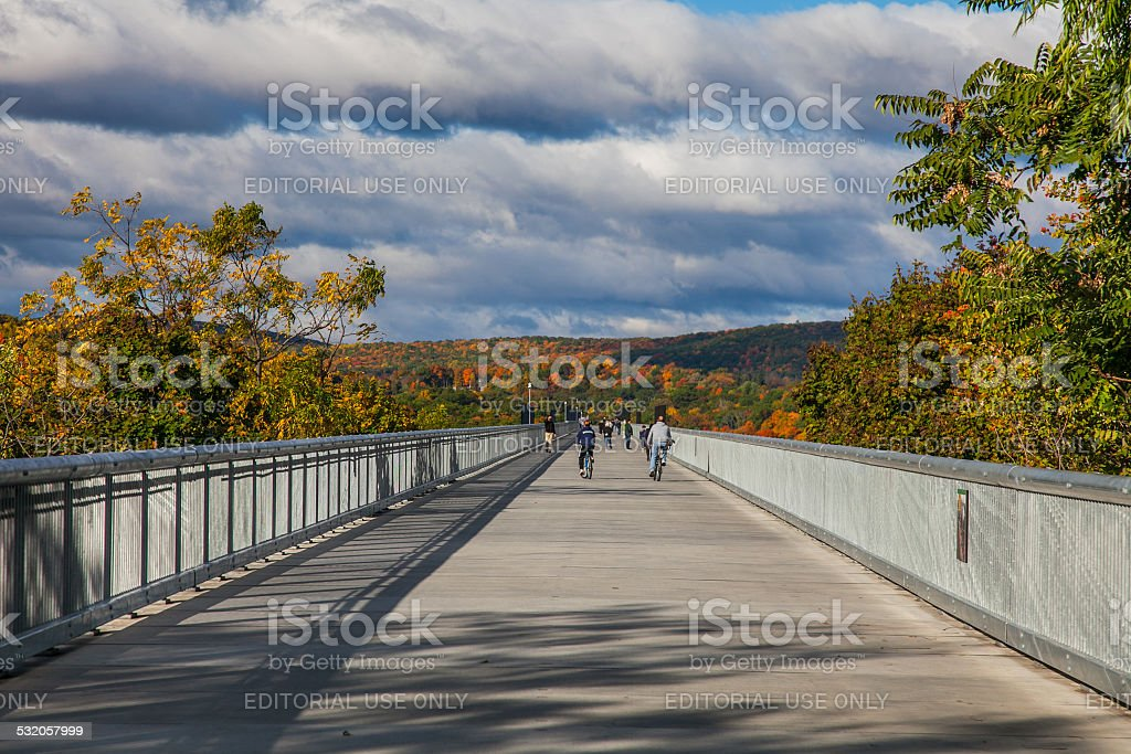 Walkway Over the Hudson - Poughkeepsie, NY stock photo