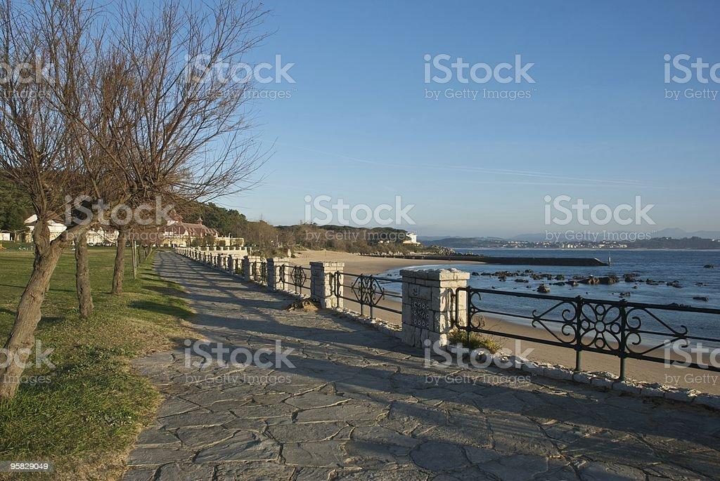 Walkway (Santander - Spain) stock photo