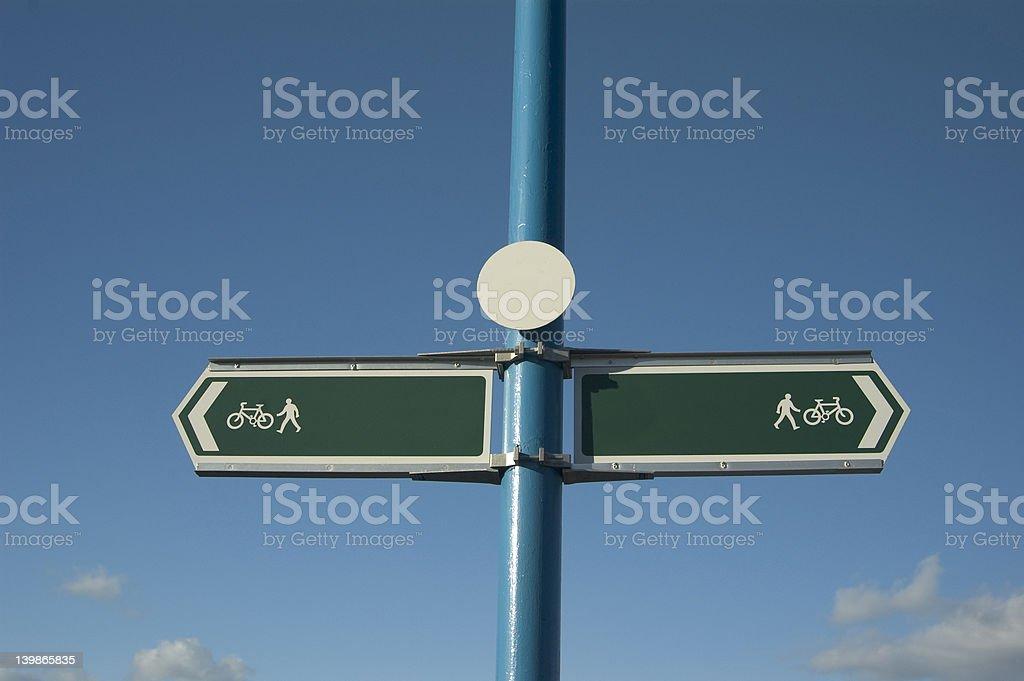 Walkway  Signpost royalty-free stock photo