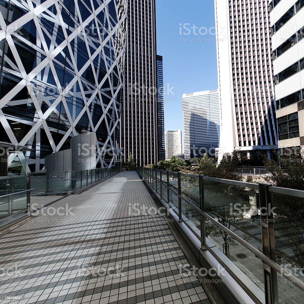 Walkway through business area royalty-free stock photo