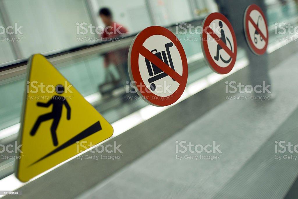 Walkway Warning royalty-free stock photo
