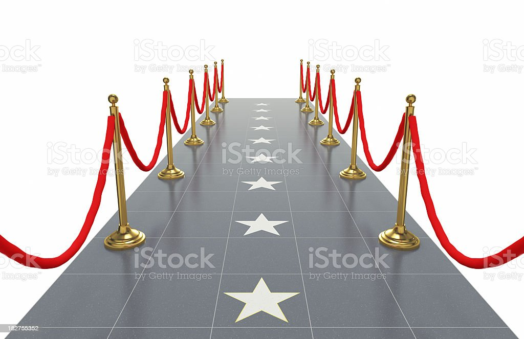 Walkway with Star Shapes stock photo