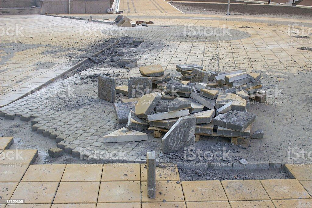 Walkways Paving Stones stock photo