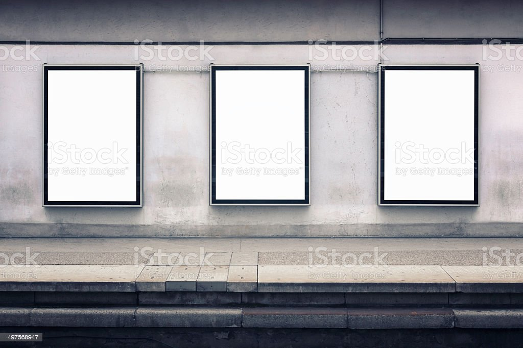 Wall advertising stock photo
