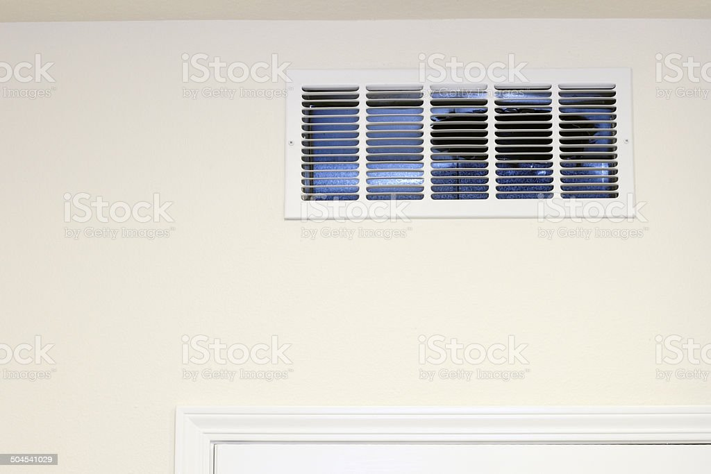 Wall Air Intake Vent stock photo