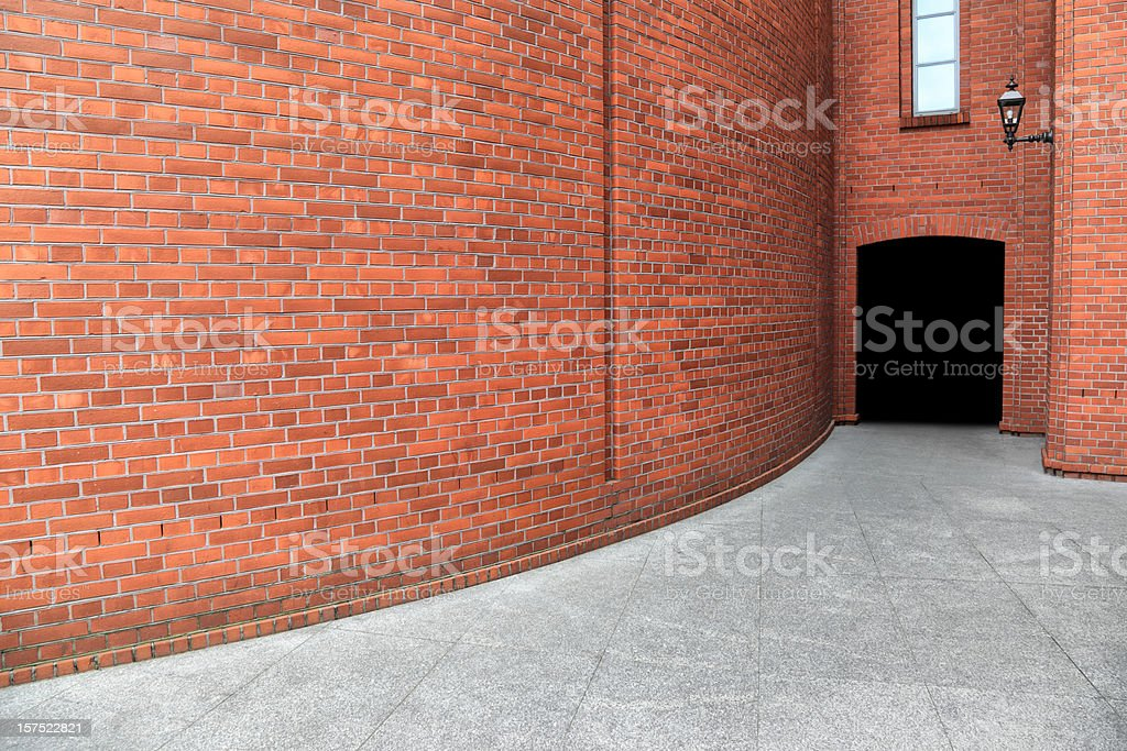 Wall and Entry royalty-free stock photo