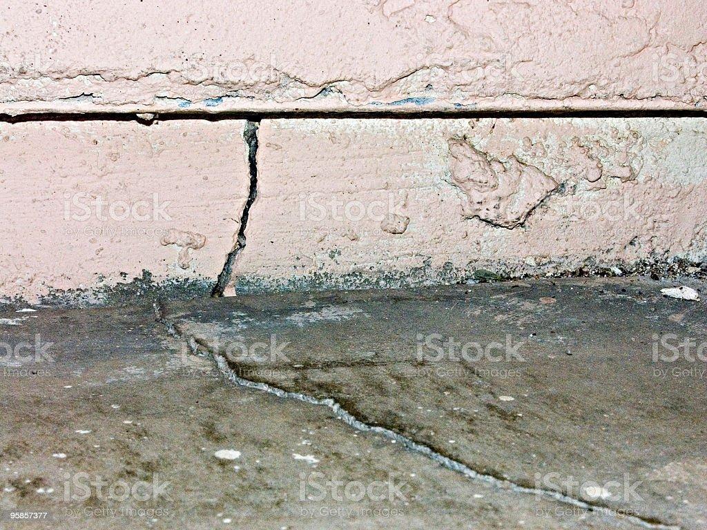 wall and foundation cracks royalty-free stock photo