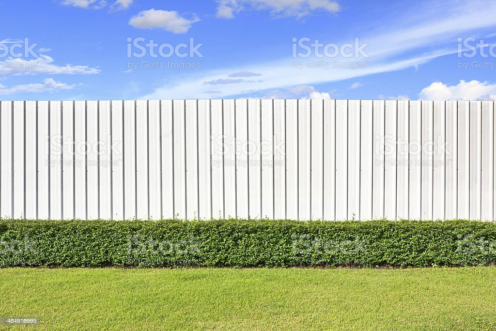 wall and garden stock photo