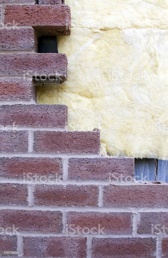 Wall and Insulation 5 stock photo