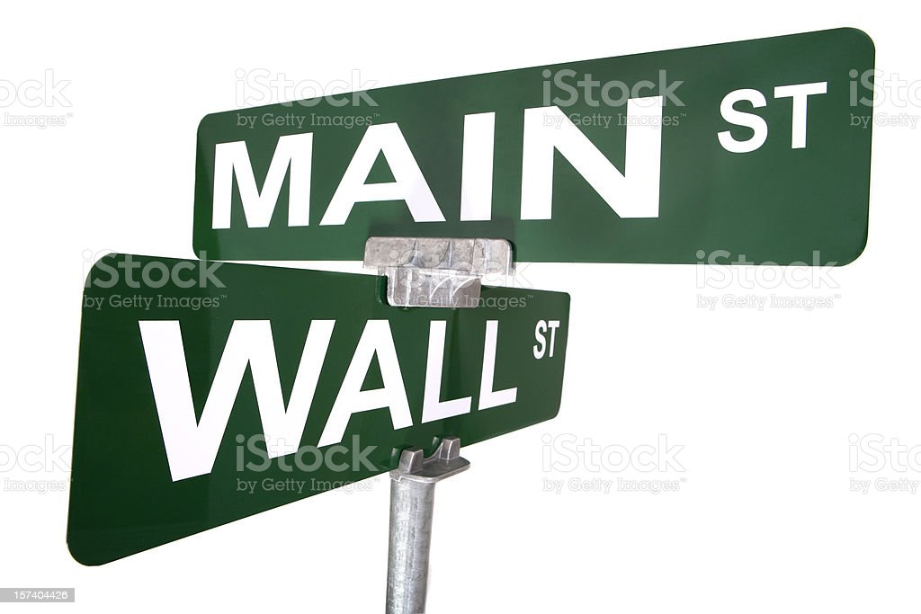 Wall and Main Street Signs stock photo